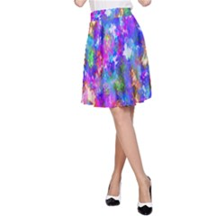 Abstract Trippy Bright Sky Space A-Line Skirt
