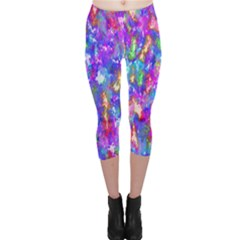 Abstract Trippy Bright Sky Space Capri Leggings