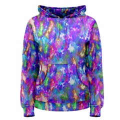 Abstract Trippy Bright Sky Space Women s Pullover Hoodie