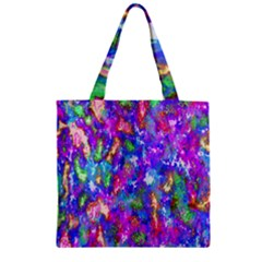 Abstract Trippy Bright Sky Space Zipper Grocery Tote Bag