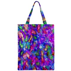 Abstract Trippy Bright Sky Space Zipper Classic Tote Bag