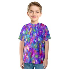 Abstract Trippy Bright Sky Space Kids  Sport Mesh Tee