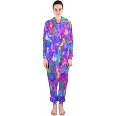 Abstract Trippy Bright Sky Space Hooded Jumpsuit (ladies)