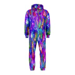 Abstract Trippy Bright Sky Space Hooded Jumpsuit (kids)