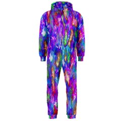 Abstract Trippy Bright Sky Space Hooded Jumpsuit (Men)