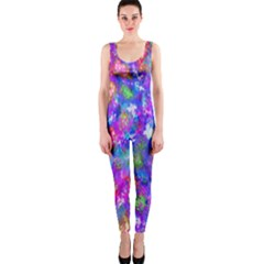 Abstract Trippy Bright Sky Space Onepiece Catsuit