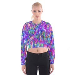 Abstract Trippy Bright Sky Space Women s Cropped Sweatshirt