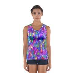 Abstract Trippy Bright Sky Space Women s Sport Tank Top