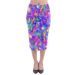 Abstract Trippy Bright Sky Space Midi Pencil Skirt