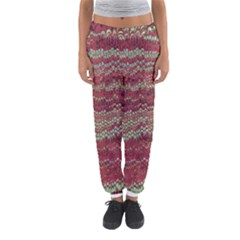 Scaly Pattern Colour Green Pink Women s Jogger Sweatpants