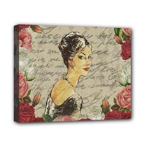 Vintage girl Canvas 10  x 8