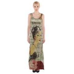 Vintage girl Maxi Thigh Split Dress