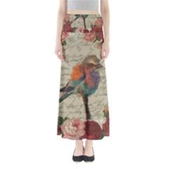 Vintage bird Maxi Skirts