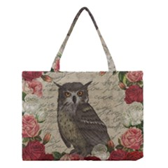 Vintage owl Medium Tote Bag