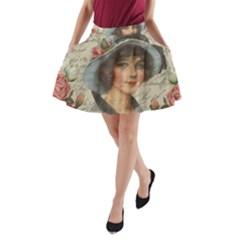 Vintage girl A-Line Pocket Skirt
