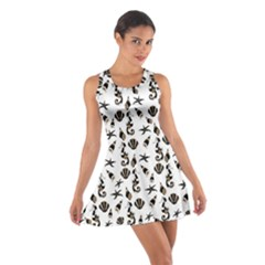 Seahorse pattern Cotton Racerback Dress