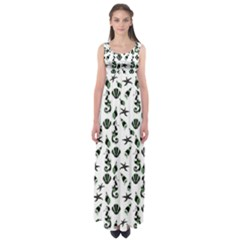 Seahorse pattern Empire Waist Maxi Dress