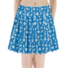 Seahorse pattern Pleated Mini Skirt