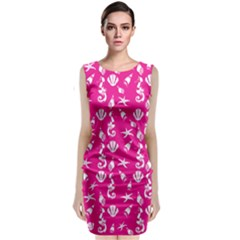 Seahorse pattern Classic Sleeveless Midi Dress