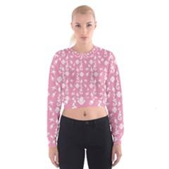 Seahorse Pattern Women s Cropped Sweatshirt