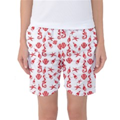Seahorse Pattern Women s Basketball Shorts