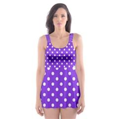 Polka dots Skater Dress Swimsuit