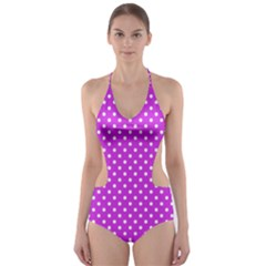 Polka dots Cut-Out One Piece Swimsuit