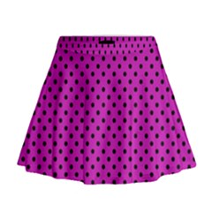 Polka dots Mini Flare Skirt