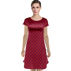 Polka dots Cap Sleeve Nightdress