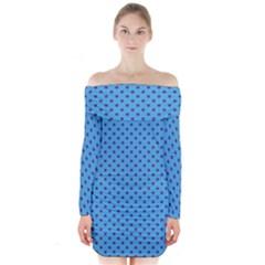 Polka dots Long Sleeve Off Shoulder Dress