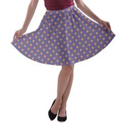 Polka dots A-line Skater Skirt