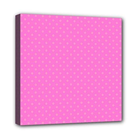 Polka dots Mini Canvas 8  x 8