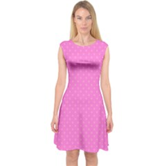 Polka dots Capsleeve Midi Dress