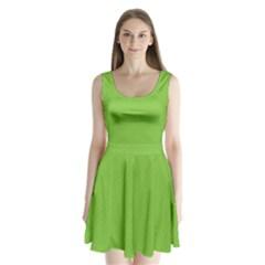 Polka dots Split Back Mini Dress