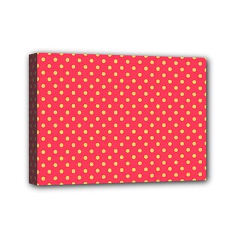 Polka dots Mini Canvas 7  x 5