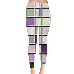 Color Tiles Abstract Mosaic Background Leggings