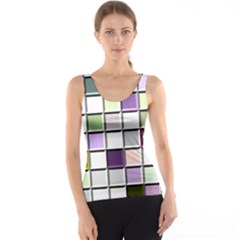 Color Tiles Abstract Mosaic Background Tank Top