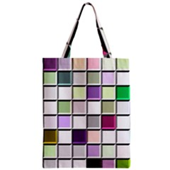 Color Tiles Abstract Mosaic Background Classic Tote Bag