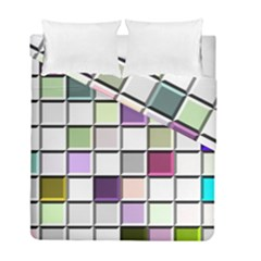 Color Tiles Abstract Mosaic Background Duvet Cover Double Side (full/ Double Size)