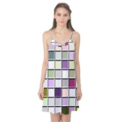 Color Tiles Abstract Mosaic Background Camis Nightgown