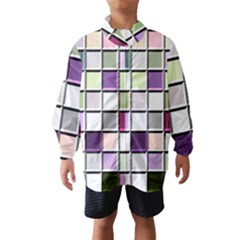 Color Tiles Abstract Mosaic Background Wind Breaker (kids)