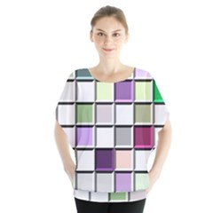 Color Tiles Abstract Mosaic Background Blouse