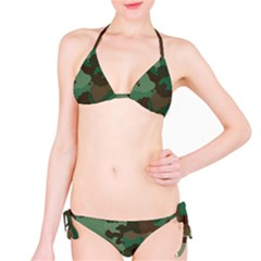 Camouflage Pattern A Completely Seamless Tile Able Background Design Bikini Set