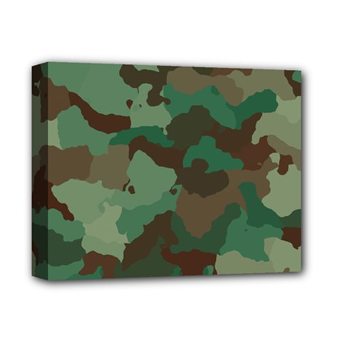 Camouflage Pattern A Completely Seamless Tile Able Background Design Deluxe Canvas 14  x 11