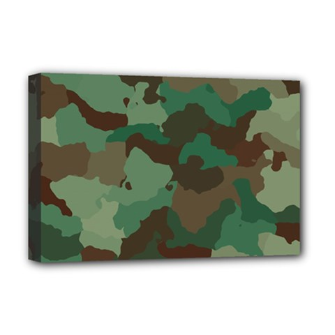 Camouflage Pattern A Completely Seamless Tile Able Background Design Deluxe Canvas 18  X 12
