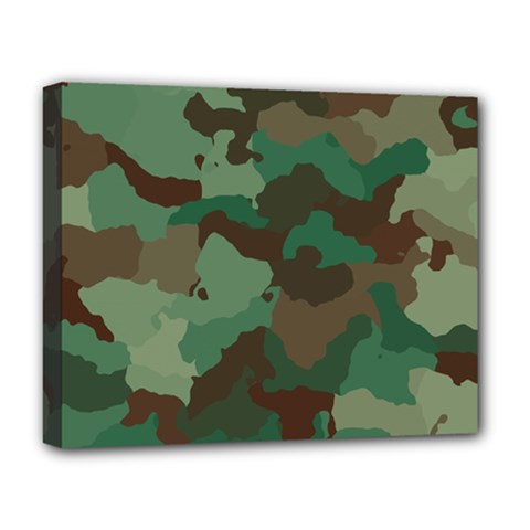 Camouflage Pattern A Completely Seamless Tile Able Background Design Deluxe Canvas 20  x 16