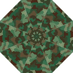 Camouflage Pattern A Completely Seamless Tile Able Background Design Hook Handle Umbrellas (large)