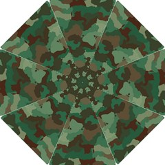 Camouflage Pattern A Completely Seamless Tile Able Background Design Hook Handle Umbrellas (Small)