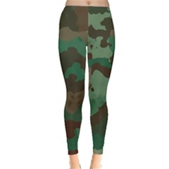 Camouflage Pattern A Completely Seamless Tile Able Background Design Leggings