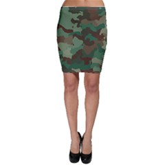 Camouflage Pattern A Completely Seamless Tile Able Background Design Bodycon Skirt